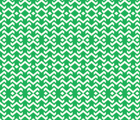 chevron green fabric by vos_designs on Spoonflower - custom fabric