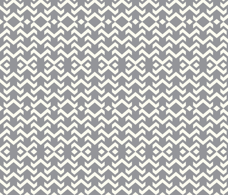 chevron grey fabric by vos_designs on Spoonflower - custom fabric