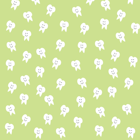 Tooth Fairy on Green fabric by halfpinthome on Spoonflower - custom fabric
