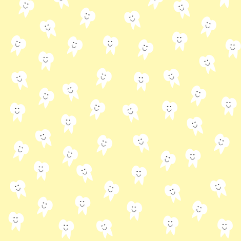 Tooth Fairy on Yellow fabric by halfpinthome on Spoonflower - custom fabric