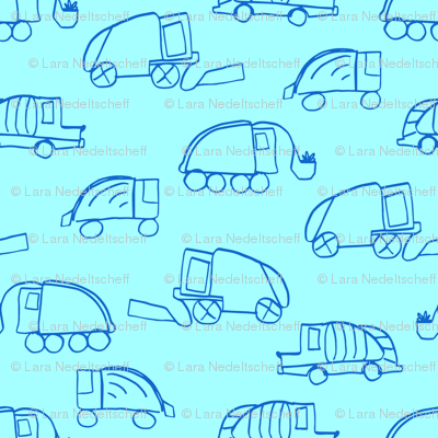 LaraGeorgine_Garbage_Trucks_blue
