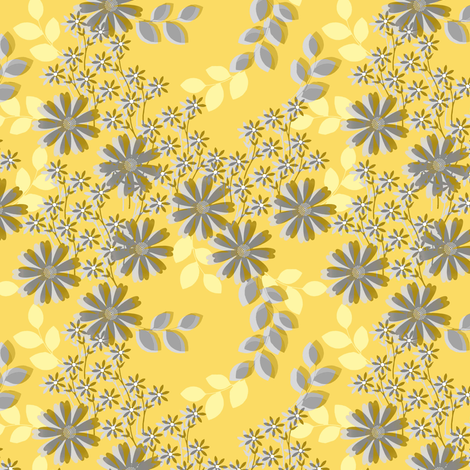 Field of Dreams in Yellow fabric by joanmclemore on Spoonflower - custom fabric