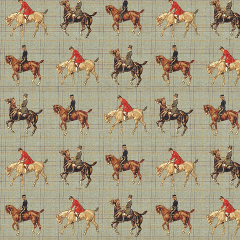 Vintage Sport Horses fabric by ragan on Spoonflower - custom fabric