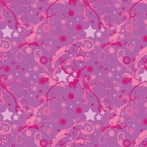 Starcrossed Universe - Raspberry Nebula (micro print)  -  © PinkSodaPop 4ComputerHeaven.com
