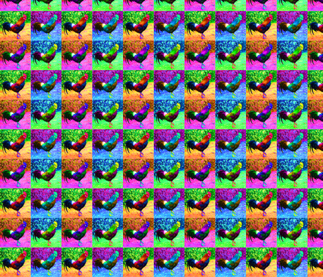 WarholChicken fabric by kstarbuck on Spoonflower - custom fabric