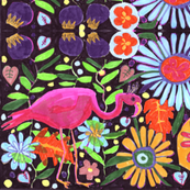 flamingo garden