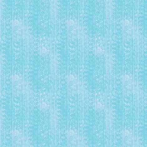 Block print (fresh aqua) fabric by raccoons_rags on Spoonflower - custom fabric