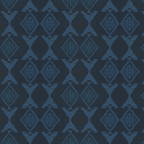 Native Sun - dark/light blue fabric by materialsgirl on Spoonflower - custom fabric