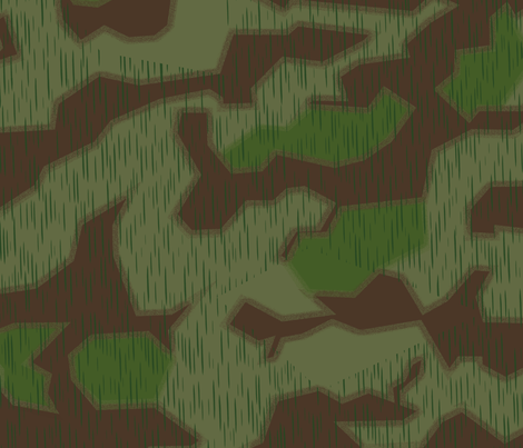 Marsh 44 Camo, Hard Edge with Fluffy Overprint fabric by ricraynor on Spoonflower - custom fabric