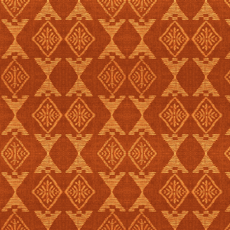 Native Sun - terra-cotta/peach fabric by materialsgirl on Spoonflower - custom fabric