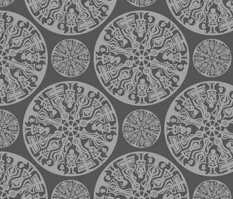 grey papercut fabric by doiknowyou on Spoonflower - custom fabric