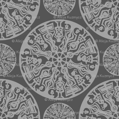 grey papercut