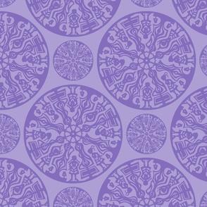 purple papercut