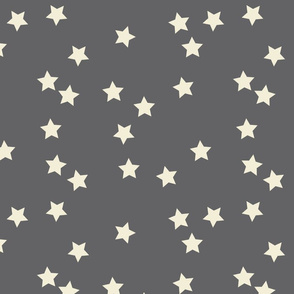 stars random gray and cream