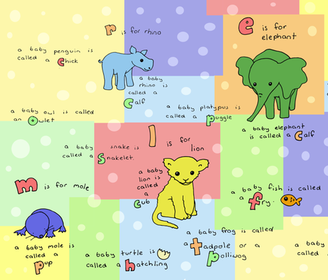 baby_animals_cheater_quilt fabric by smokey_longlong on Spoonflower - custom fabric