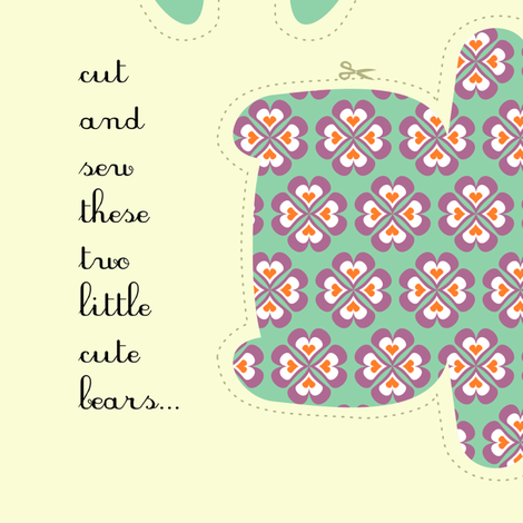 twobears fabric by gaiamarfurt on Spoonflower - custom fabric