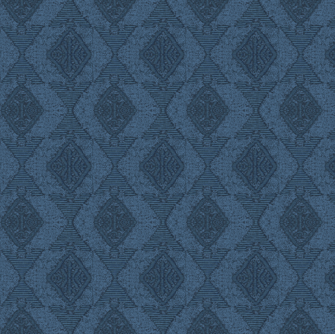 native sun, dark blue fabric by materialsgirl on Spoonflower - custom fabric