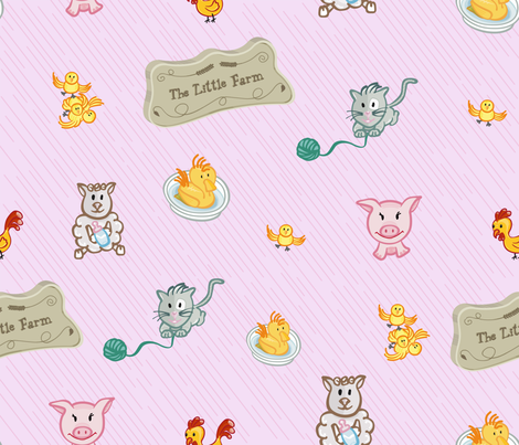 LittleFarm fabric by edrouga on Spoonflower - custom fabric