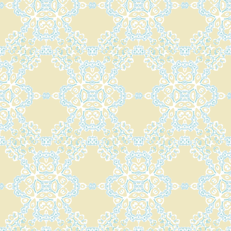 lace blue fabric by kerryn on Spoonflower - custom fabric