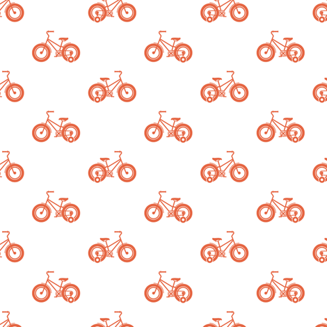 trikes orange fabric by chantae on Spoonflower - custom fabric
