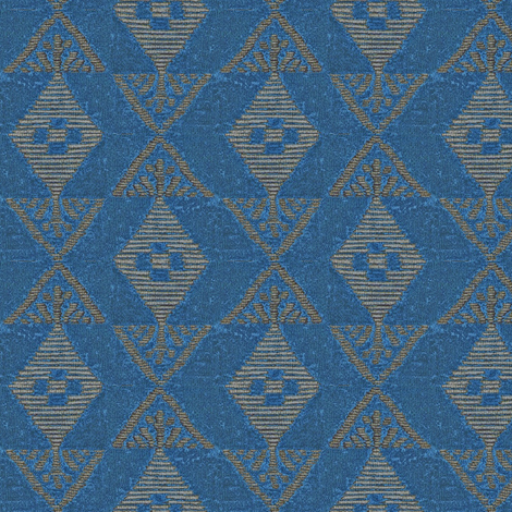 Native Sun - royal blue/gray fabric by materialsgirl on Spoonflower - custom fabric