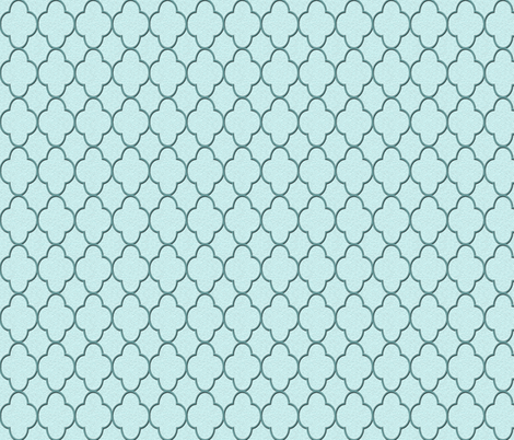 quatrefoil turquoise fabric by krs_expressions on Spoonflower - custom fabric