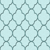 quatrefoil turquoise