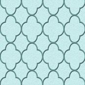 quatrefoil turquoise