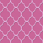 quatrefoil mauve