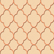quatrefoil peach