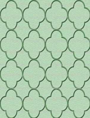 quatrefoil olive green