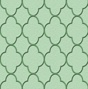 quatrefoil olive green