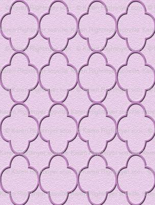 quatrefoil lavender