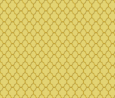 quatrefoil gold fabric by krs_expressions on Spoonflower - custom fabric