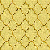 quatrefoil gold