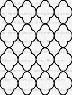 quatrefoil black and white