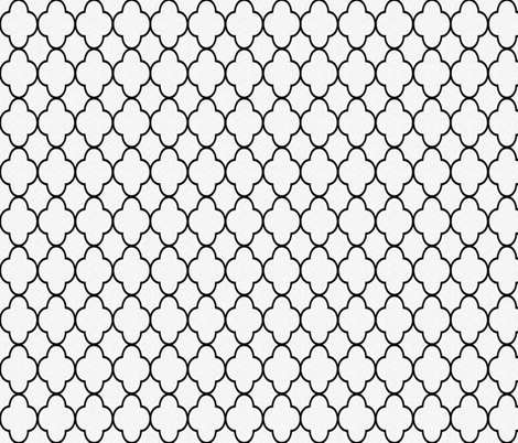 quatrefoil black and white fabric by krs_expressions on Spoonflower - custom fabric