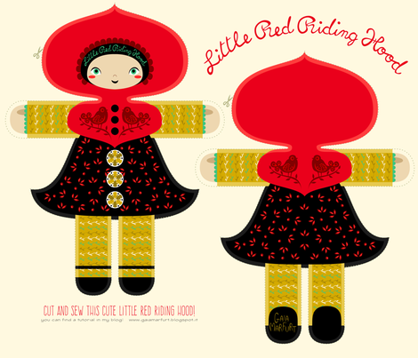 littleredridinghood fabric by gaiamarfurt on Spoonflower - custom fabric