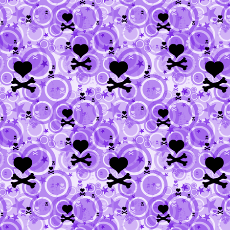 PunkSodaPop - Grape Fizzy -  © PinkSodaPop 4ComputerHeaven.com fabric by pinksodapop on Spoonflower - custom fabric