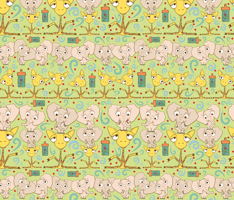 Awww Babies!  fabric by joojoostrees on Spoonflower - custom fabric