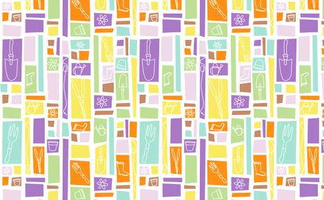 Garden Tools fabric by richardrainbolt on Spoonflower - custom fabric