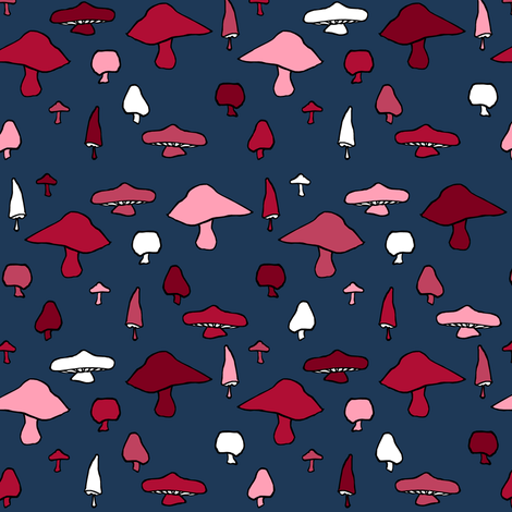 Mushroom Shuffle fabric by pond_ripple on Spoonflower - custom fabric