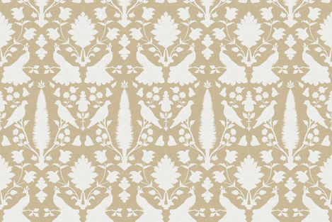 Avignon in Bisque fabric by sparrowsong on Spoonflower - custom fabric
