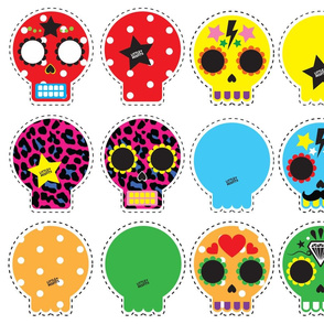 Little Misfits - Sugarskull Pillows #2