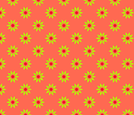 Apricot Floral fabric by curlywillowco on Spoonflower - custom fabric