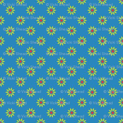 Cornflower blue floral
