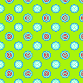 Bright Charteuse Green Floral