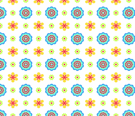 Multi-color floral fabric by curlywillowco on Spoonflower - custom fabric