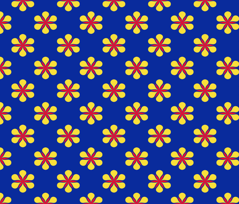 Navy floral fabric by curlywillowco on Spoonflower - custom fabric