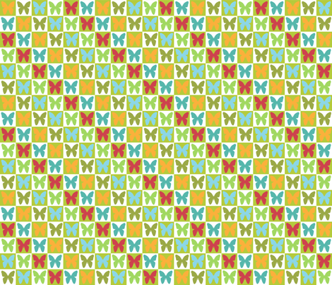 Butterflies fabric by curlywillowco on Spoonflower - custom fabric